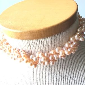 Real Pearl Necklace Champagne Pearls
